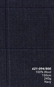 Marzoni Dark Navy Windowpane Suit