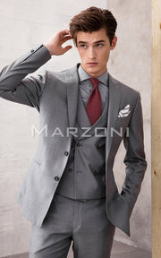 Marzoni Dove Grey Solid Suit