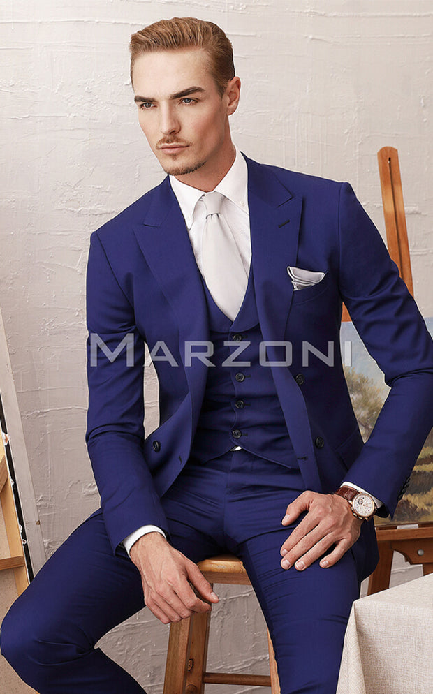 Marzoni Royal Blue Solid Suit
