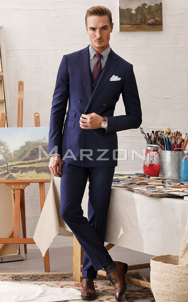 Marzoni Navy Solid Suit