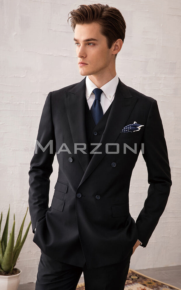 Marzoni Black Solid Suit