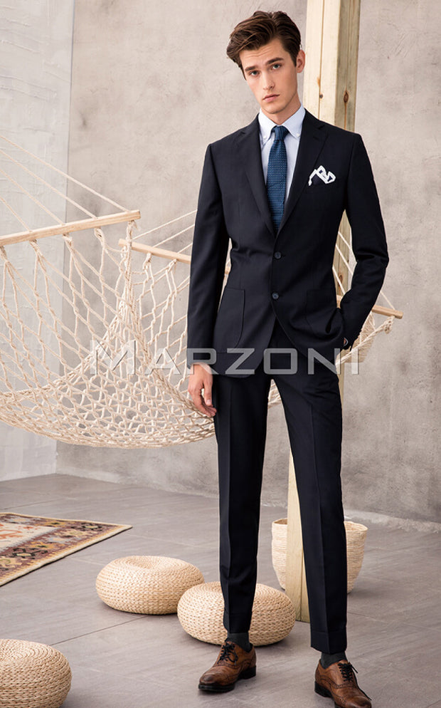 Marzoni Midnight Navy Solid Suit