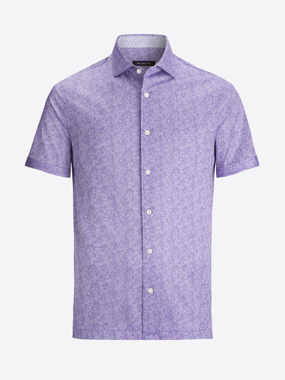 Bugatchi | Short Sleeve Knit Shirt | Lavender