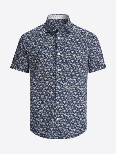 Bugatchi | Short Sleeve Knit Shirt | Navy