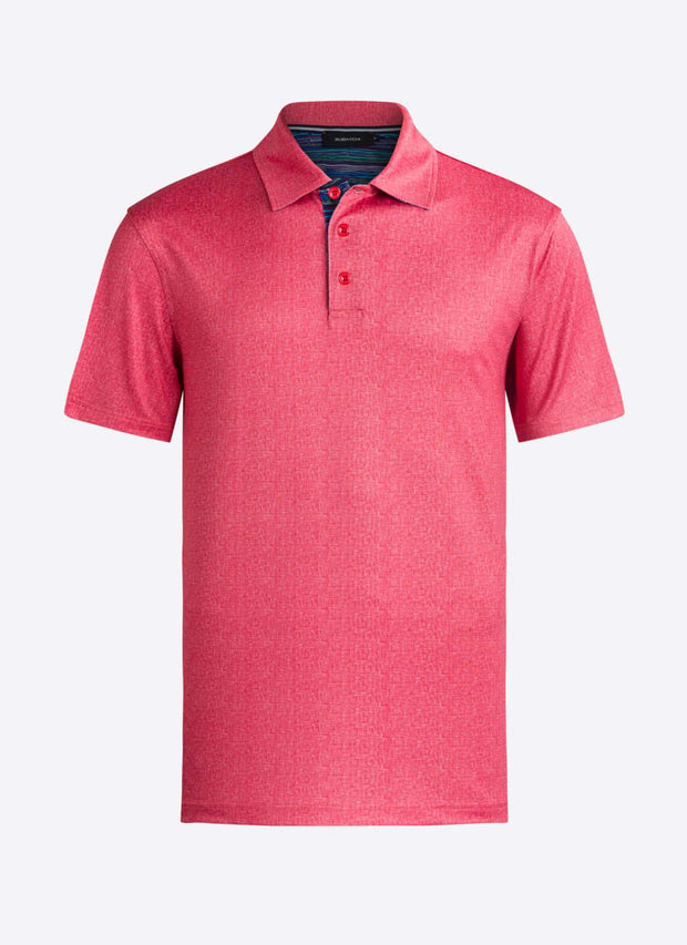 Bugatchi | Short Sleeve Polo | Ruby