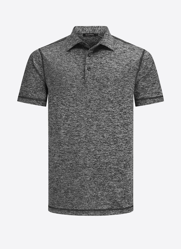 Bugatchi | Short Sleeve Polo | Charcoal