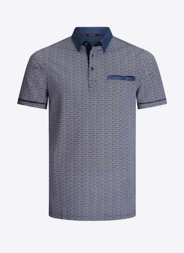 Bugatchi | Short Sleeve Polo | Midnight