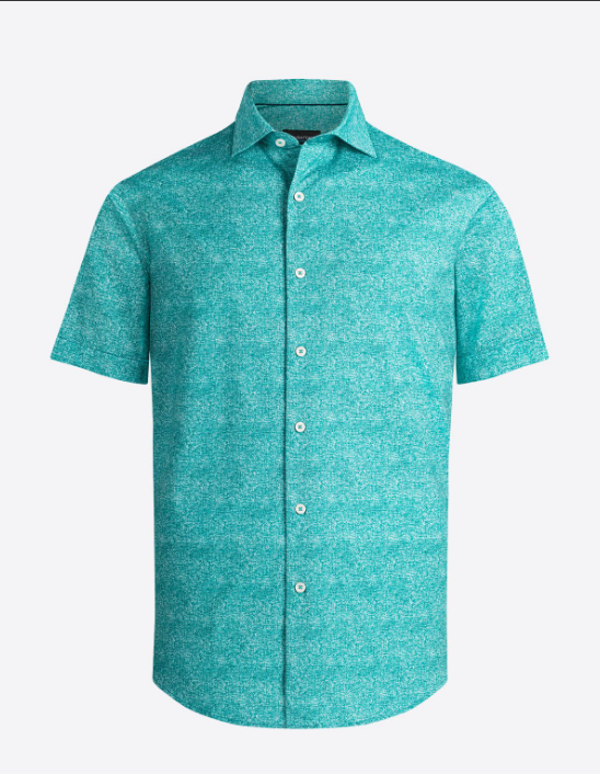 Bugatchi | OOOHCOTTON TECH SS SHIRT | Jade