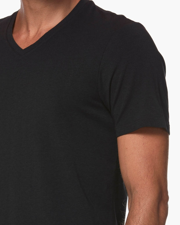 Paige | Grayson V Neck Tee | Black
