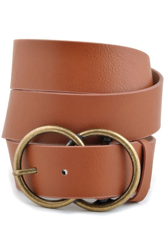 Piper Double Buckle Belt (Tan)