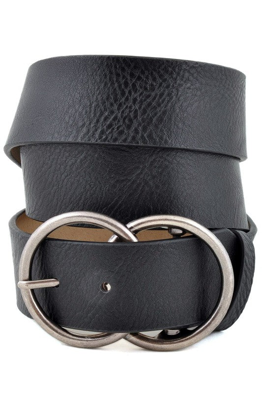 Piper Double Buckle Belt (Black)