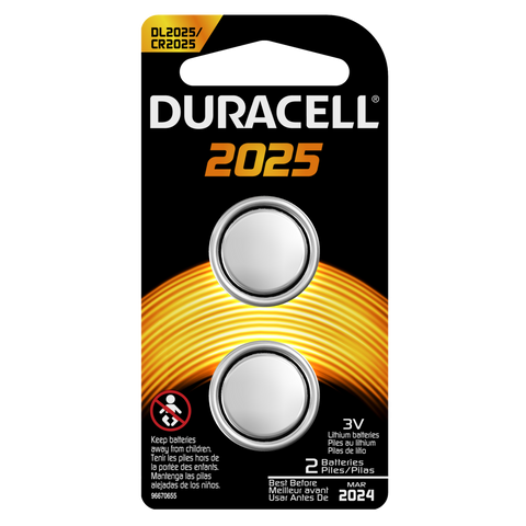 Duracell Lithium 2025 Battery (DL2025) - 2pk