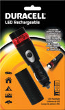 Duracell® Smart Power™ 12V Rechargeable LED Flashlight & Flasher package