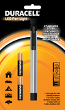 Duracell® Stainless Steel LED Penlight package