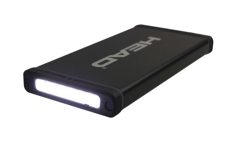 HEAD® 10000mAh Lithium Polymer Battery Power Bank with LED Light (HPO-75 PRO)