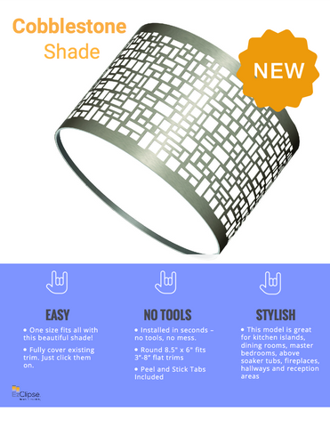 "DEAL - 2 Pack Cobblestone Shade - 8.5"" x 6"" DEAL - 2 Pack!"