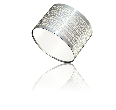 "Chrome Cobblestone Shade - 8.5"" x 6"" (30902)"