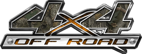 "7""x18"" 4x4 block style forest high resolution truck bed or car side vinyl graphic decals."