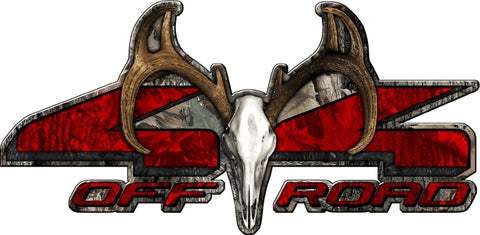 "8.75""x18"" 4x4 buck skull ambush high resolution truck bed or car side vinyl graphic decals."