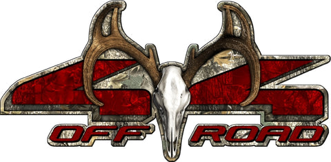 "8.75""x18"" 4x4 buck skull forest high resolution truck bed or car side vinyl graphic decals."
