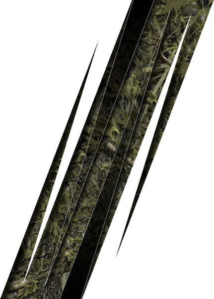 Truck bed or car side camo spikes bed band marshland high resolution vinyl graphic stripe decal kit universal fit.