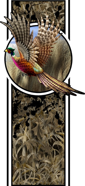 Truck bed or car side pheasant bed band design #2 high resolution vinyl graphic stripe decal kit universal fit.