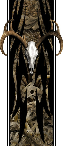 Truck bed or car side tribal buck skull bed band grassland high resolution vinyl graphic stripe decal kit universal fit.