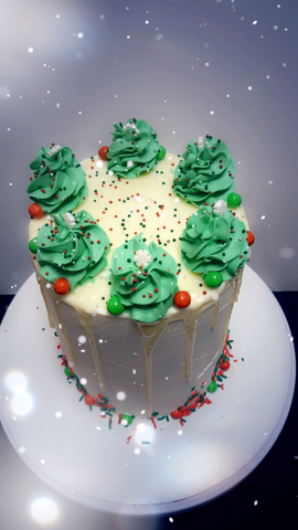 Holiday Drip Cake