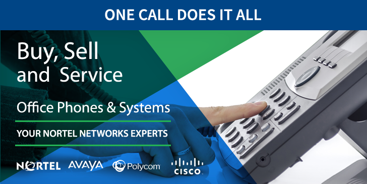 Nortel Networks office phones & phone systems experts. Genuine Nortel Networks phones, systems, parts and service. We buy used office phones and equipment, we sell new & used office phones and equipment, and we service Nortel Networks office phone systems in Toronto & the GTA, Ontario.