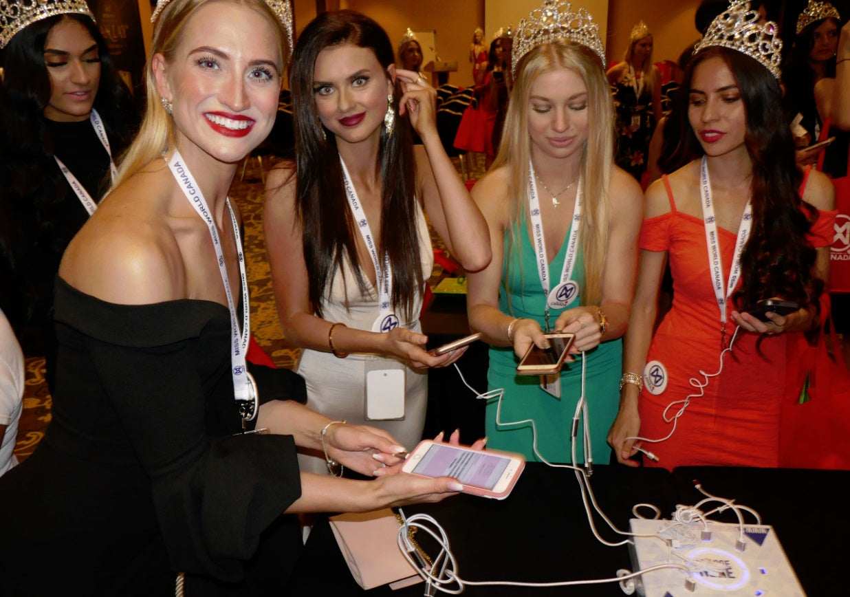 Miss World Canada 2018 with Rhinocharge device