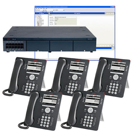 "Avaya IP Office ""Like New"" VoIP/Digital Phone System with 5 – 9508 Display sets"