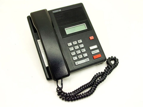 Nortel Meridian M7100 single line display phone, refurbished, black.
