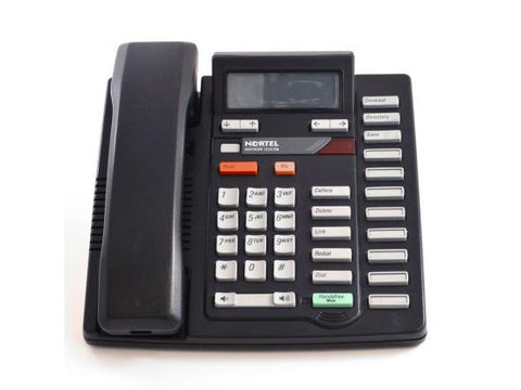 Nortel Aastra M9316CW Black Single Line Speakerphone w/ Call Waiting/Caller ID (NT2N18)