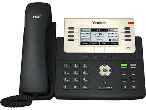 Yealink T27G Gigabit Desk Phone - IP Office Phone for rCloud