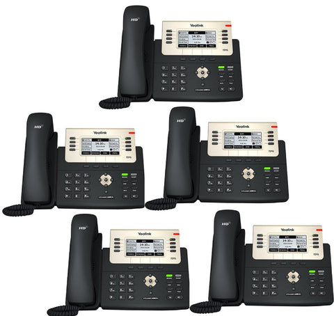 Office VoIP Telephone System:rCloud Office Phone System-5 x YealinkT27G