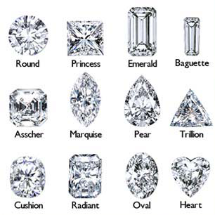 diamond engagement rings shapes