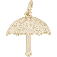 Rembrandt Charms Gold Umbrella Charm