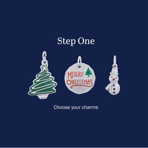 Step One Graphic With Christmas Charms
