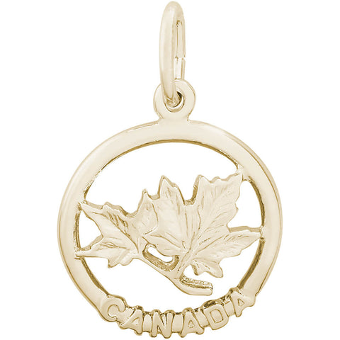 Canada Maple Leaf Ring Charm