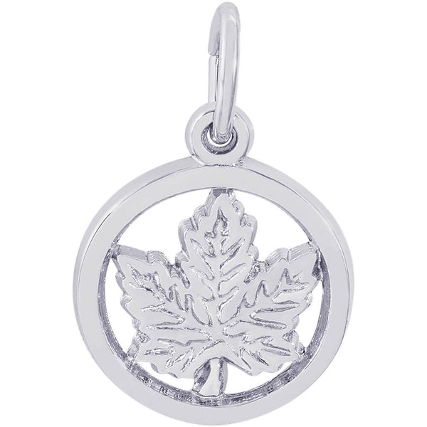 Ringed Maple Leaf Accent Charm
