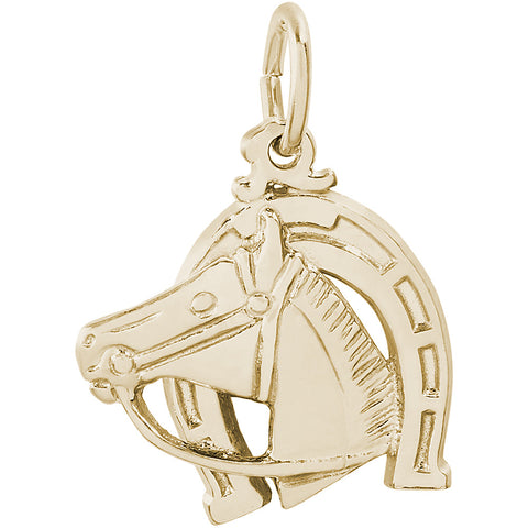 Horse Head With Horseshoe Charm