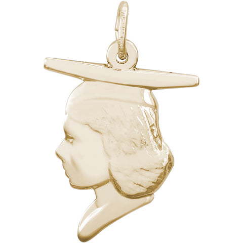 Female Graduate Head Charm