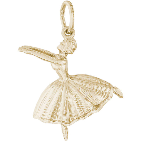 Ballet Dancer With Skirt Charm