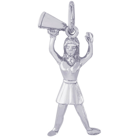 Cheerleader With Megaphone Charm