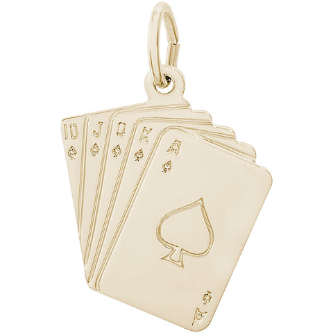 Royal Flush Cards Charm