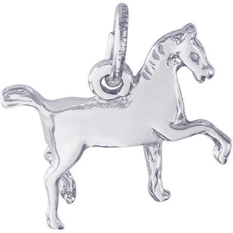 Extended Trot Horse Charm