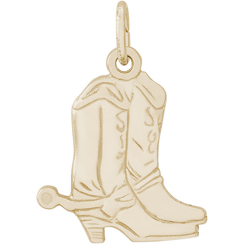Flat Cowboy Boots With Spurs Charm