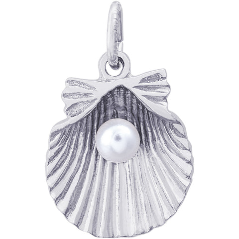 Clamshell With Pearl Charm