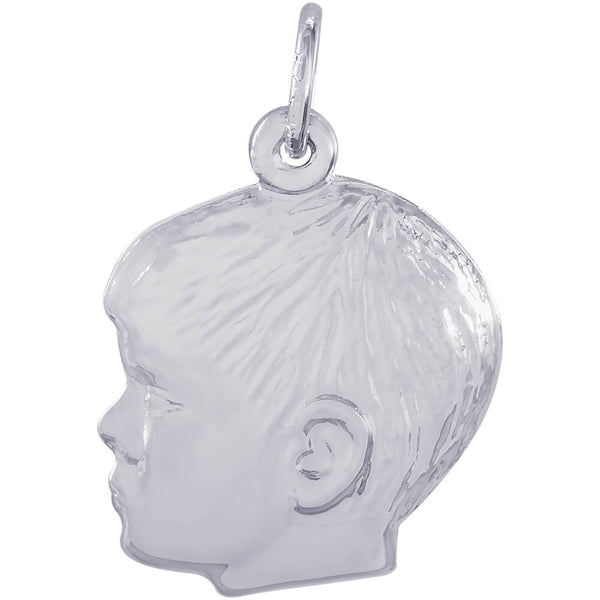 Young Boy's Head Charm