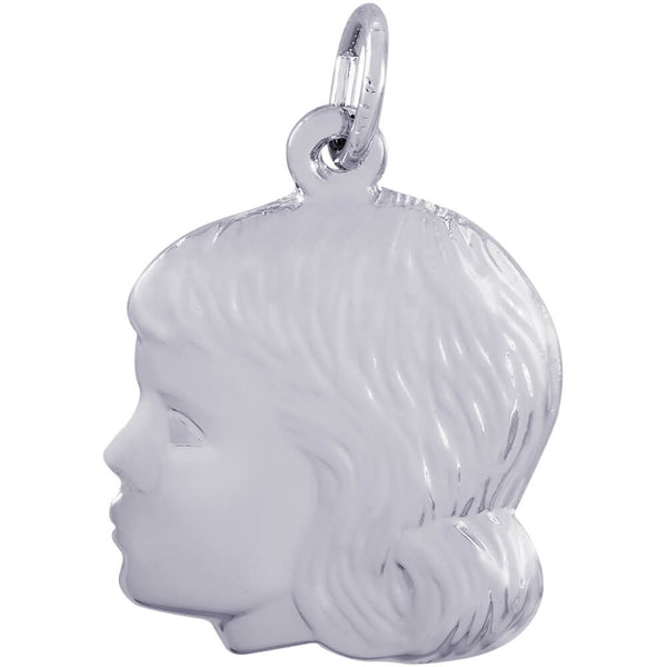 Young Girl's Head Charm